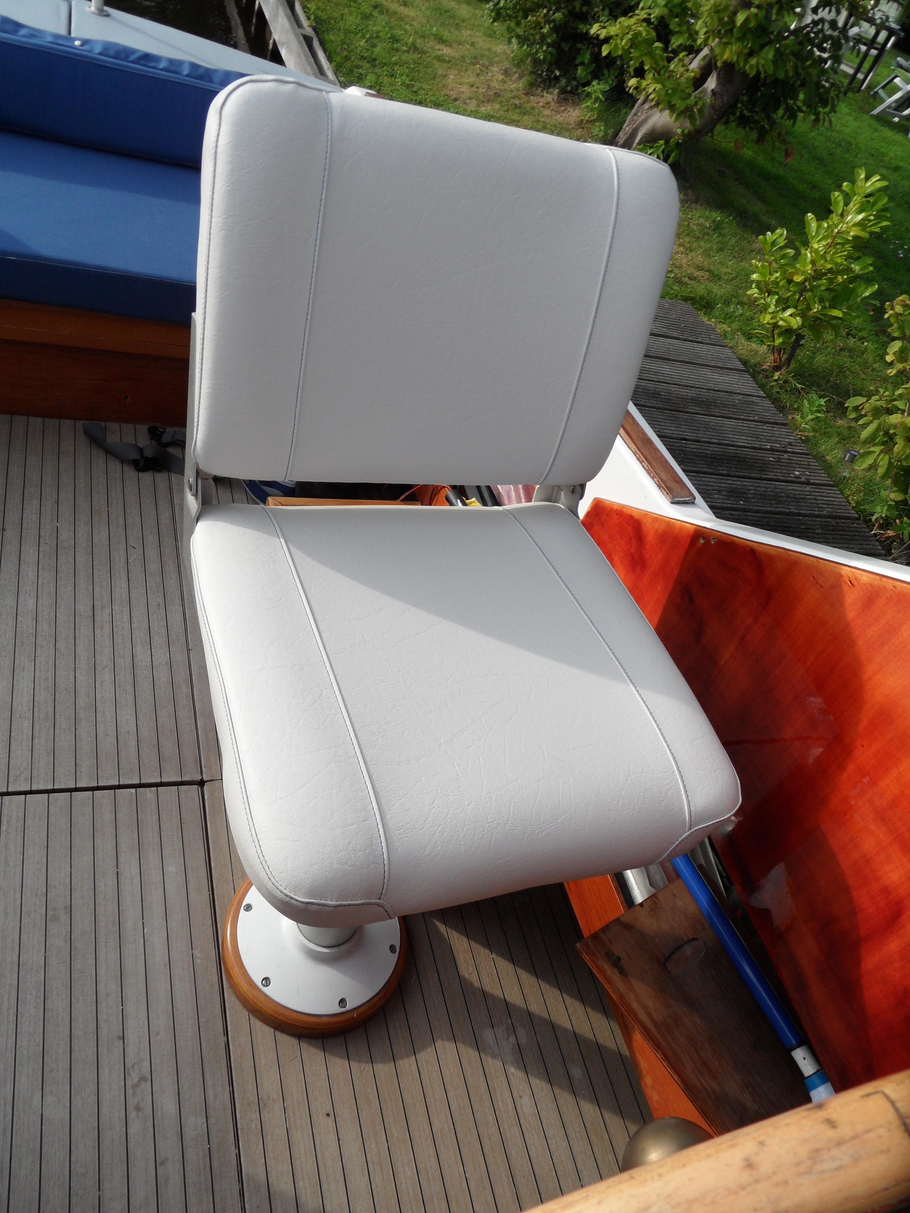 Boot bekleding - stoel van de kapitein
