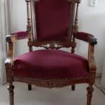 Klassieke stoel bordeaux
